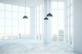 Empty clean white room - 210800165