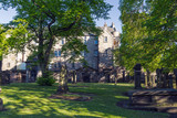 The grounds of Greyfriars Kirk, a church in Edinburgh Old Town, Scotland, UK. - 210829769