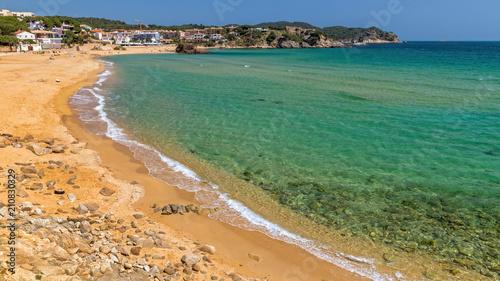 Aluminium Lente Beautiful bay in Costa Brava, village La Fosca in Spain