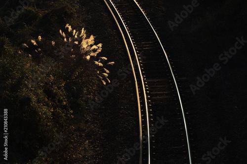 Aluminium Spoorlijn 光る線路