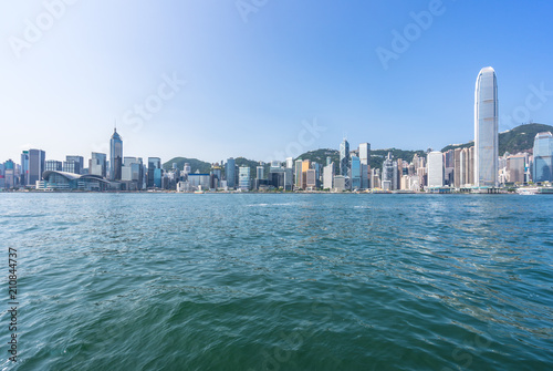 panoramic city skyline in hongkong china