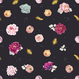 Watercolor floral pattern - 210855719