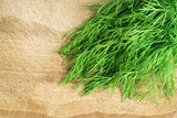 Fresh Dill on wooden background - 210858794
