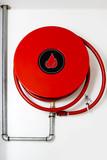 Fire hose on wall - 210859528