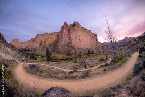 Fotobehang Zalm Smith Rock State Park Ultra Wide