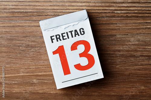 Kalender - Freitag der 13te - 210887973