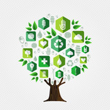 Green tree for environment and ecology concept - 210899964