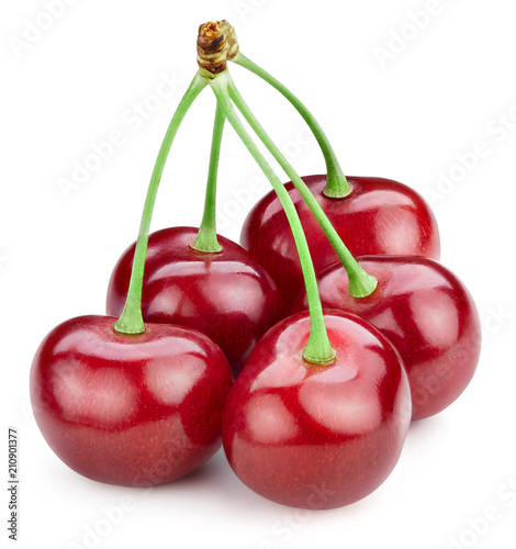 Aluminium Kersen cherry isolated on white