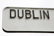 Black and White Dublin Signpost - 210906323