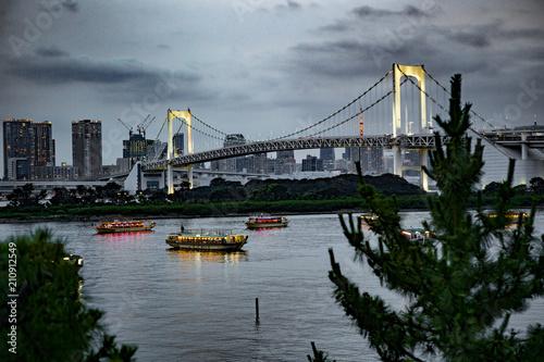 mata magnetyczna Rainbow bridge à Tokyo