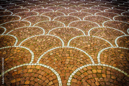 obraz PCV Sampietrini pavement in Rome, may be used as background