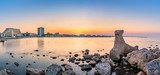 Mamaia beach resort panorama at sunset - 210935955