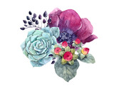 Watercolor floral composition - 210954964