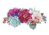 Watercolor floral composition - 210954989