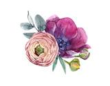 Watercolor floral composition - 210954996