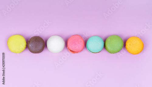 Fotobehang Macarons bunte Macarons