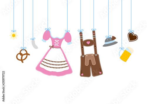 Straight Hanging Octoberfest Symbols - 210979722