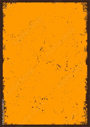 Vintage abstract blank orange poster - 210980327