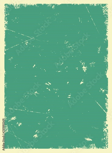 Vintage green blank poster - 210980369