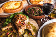 a lot of delicious national dishes of Georgia - 210983185