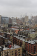 Quadro Aerial view on east village manhattan  on a foggy day