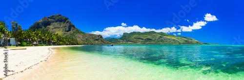 Plexiglas Freesurf Incredible nature of Mauritius island. Tropical exotic holidays