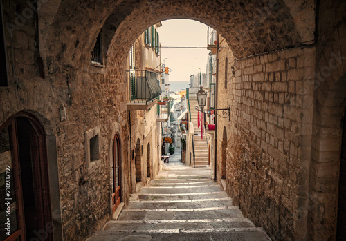 Fotobehang Smalle straatjes Italy