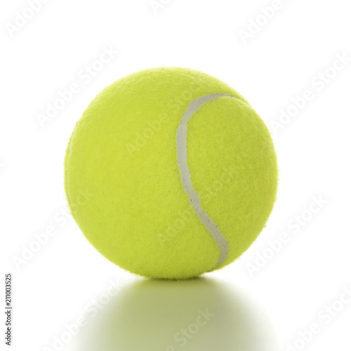Aluminium Tennis Tennis ball isolated on white