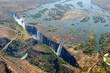 Постер, плакат: Victoria Falls Aerial View Zambezi River Zimbabwe Africa