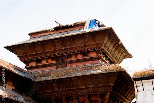 Fotobehang Bruin Architecture of Lalitpur Metropolitan City (Patan), the third largest city of Nepal, Asia