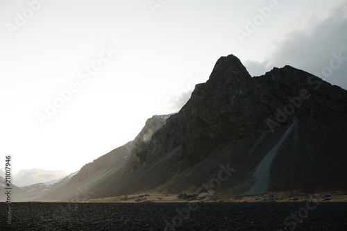 Mountain landscape by the ocean