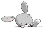 cara conejo feliz