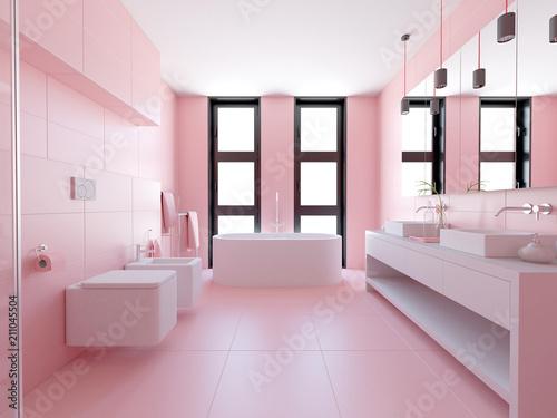 Leinwanddruck Bild 3D Badezimmer