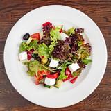 greek salad with feta - 211061744
