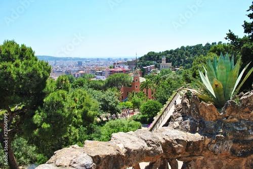 Aluminium Barcelona Widok na Barcelonę