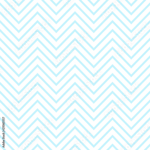 obraz PCV Seamless pattern of blue zigzag images. Illustration for a boy at a baby shower party. Background for greeting or invitation cards.