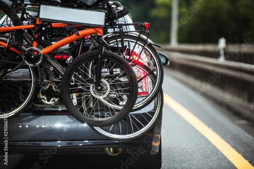 Driving with Hitch Bike Rack - 211066706
