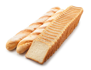 breads isolated on a white background