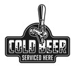 Vintage cold beer logotype template