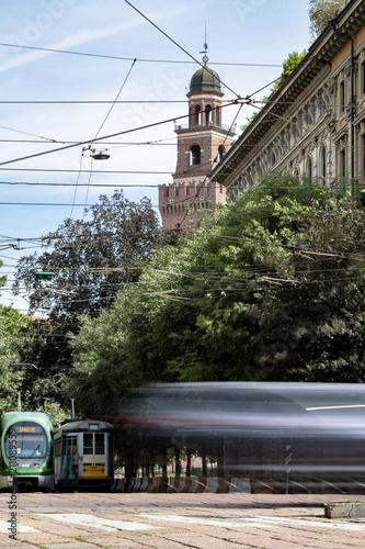 Aluminium Milan scorcio castello sforzesco milano