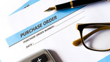Purchase order for procurement order document of business - 211095373