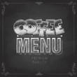 Chalk drawing typography coffee menu design. Lettering poster