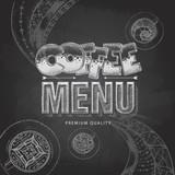 Chalk drawing typography coffee menu design - 211099557