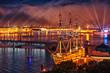 Leinwanddruck Bild -  Scarlet Sails celebration in St Petersburg.