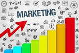 Marketing Diagramm mit Symbole - 211114710