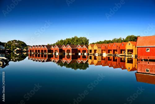 Foto Murales Bootshäuser Norwegen