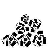 Pile of waste isolated on white background - 211124782