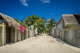 Empty street in traditional Maldivian village - 211126969