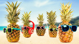 Summer time and fresh pineapple fruit