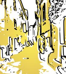 rue du vieil Antibes illustration cote d'azur France © ascain64